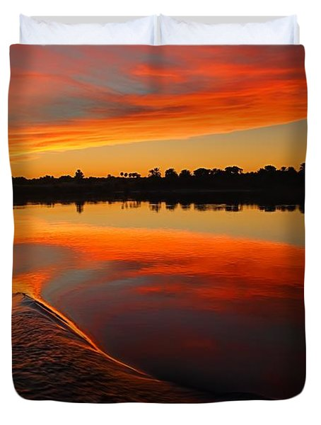 Nile Sunset Duvet Cover