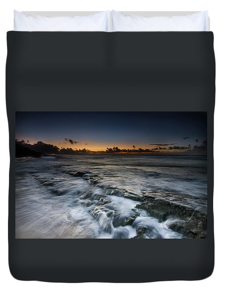 Nimitz Beach Sunrise Duvet Cover