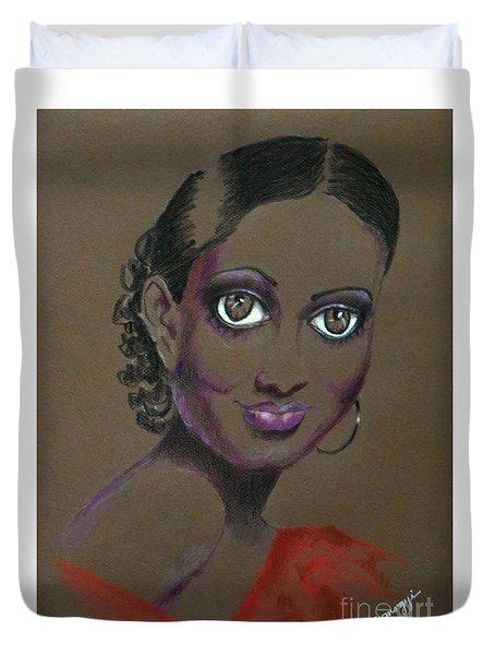 Nina Mae -- African-american Actress Portrait Duvet Cover