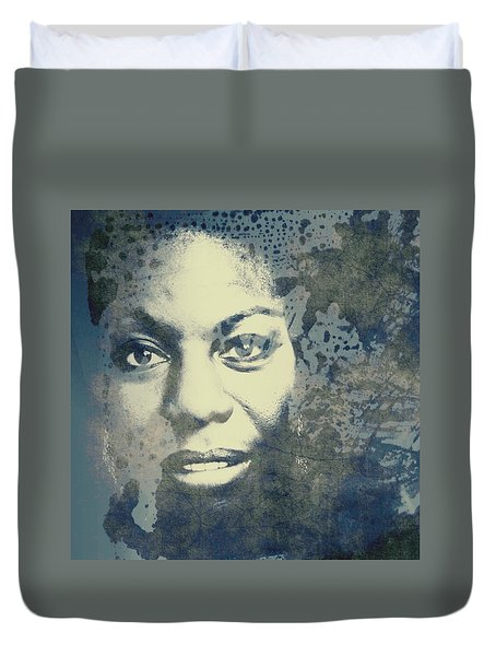 Nina Simone - Here Comes The Sun  Duvet Cover