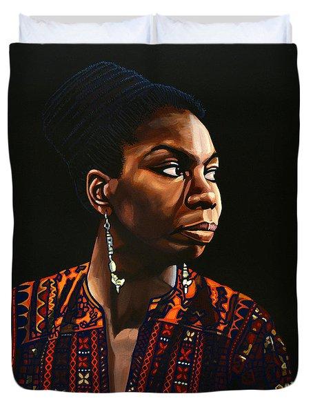 Nina Simone Painting Duvet Cover