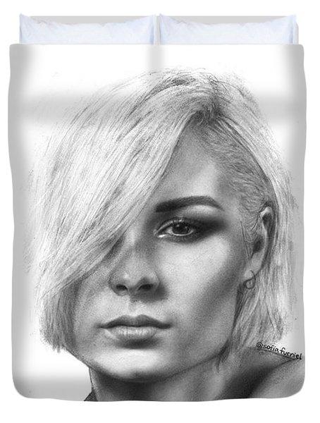 Nina Nesbitt Drawing By Sofia Furniel Duvet Cover