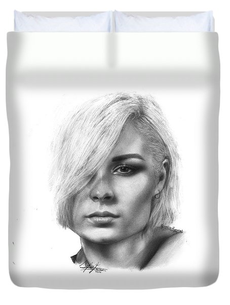 Nina Nesbitt Drawing By Sofia Furniel Duvet Cover