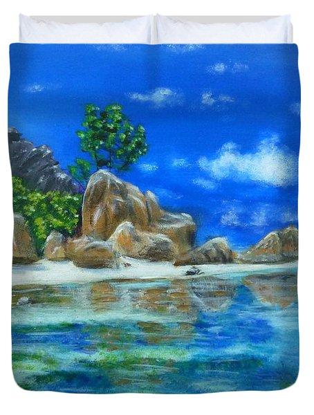 Nina's Beach Duvet Cover