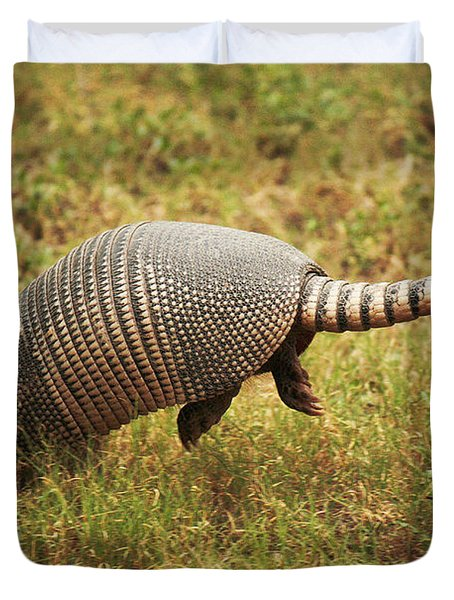 Nine-banded Armadillo Jumping Duvet Cover