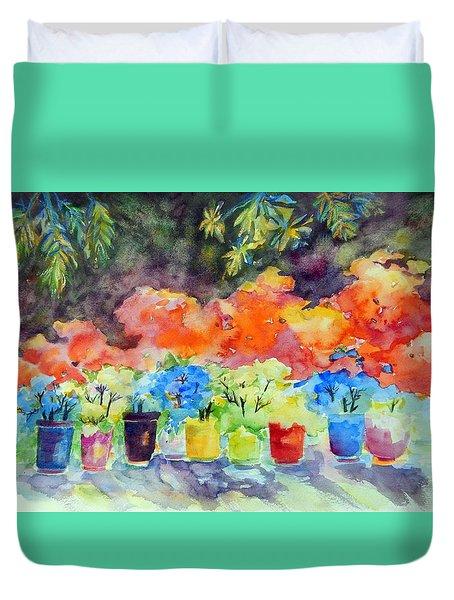 9 Potted Plants Duvet Cover