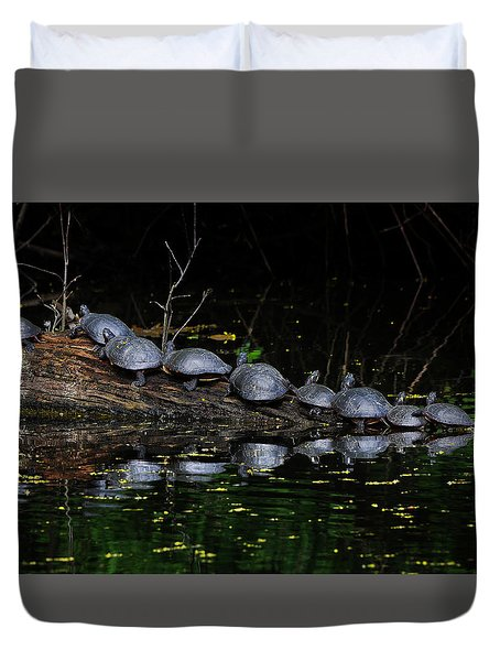 Nine In A Row Duvet Cover