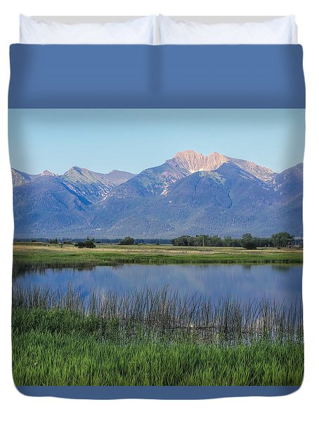 Ninepipes National Wildlife Refuge  Duvet Cover by Cathy Anderson
