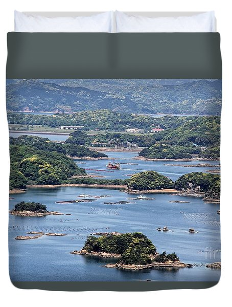 Duvet Cover featuring the photograph Ninety-nine Islands by Yumi Johnson