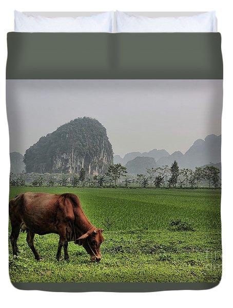 Ninh Binh Reserve  Duvet Cover by Chuck Kuhn