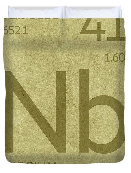 Niobium Element Symbol Periodic Table Series 041 Duvet Cover