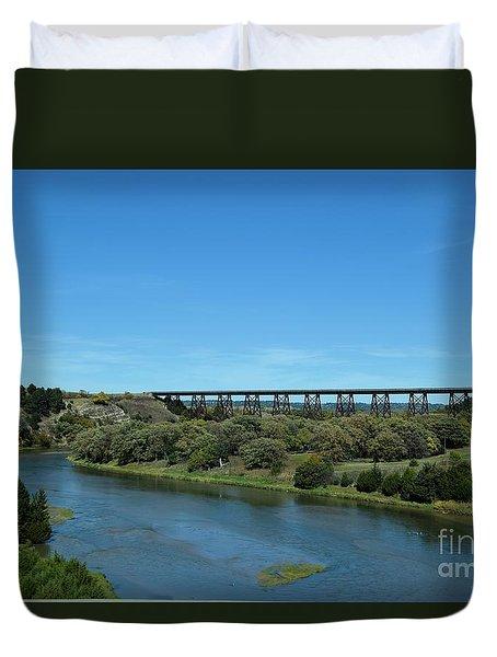 Duvet Cover featuring the photograph Niobrara River by Mark McReynolds