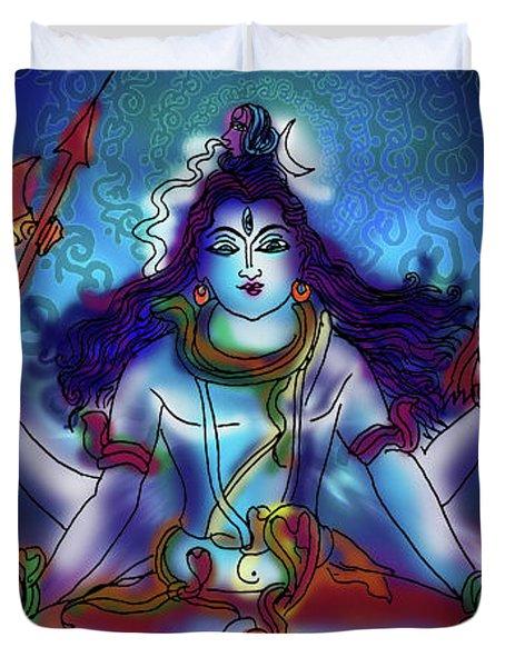 Nirvikalp Samadhi Kapali Shiva Duvet Cover