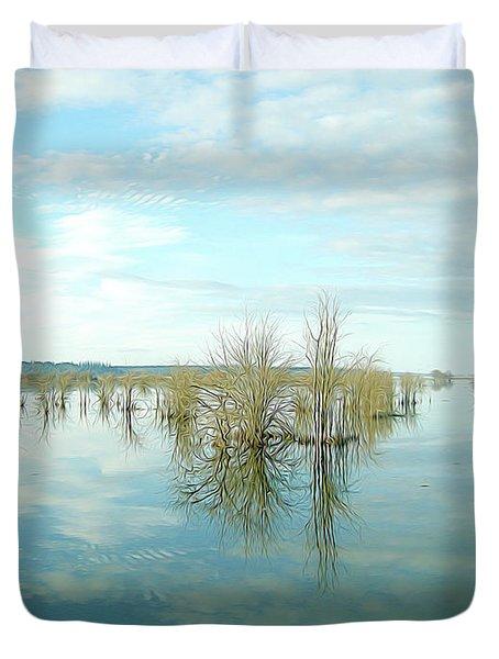 Nisqually High Tide Duvet Cover