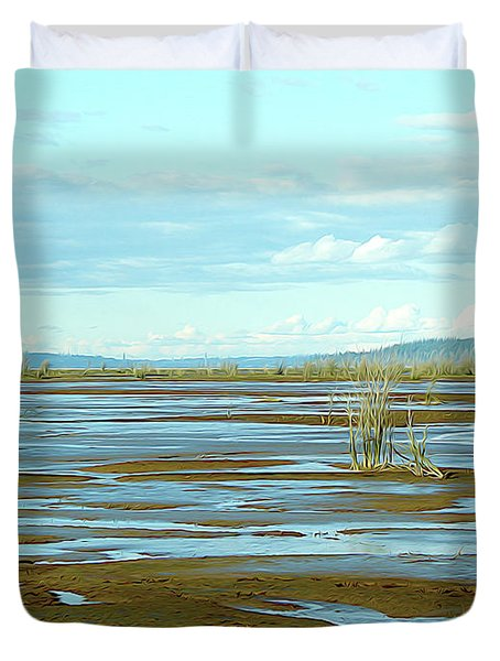 Nisqually Looking North Duvet Cover