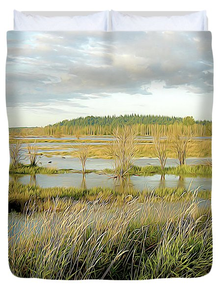 Nisqually Tide Coming In Duvet Cover