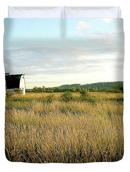 Nisqually Two Barns Duvet Cover