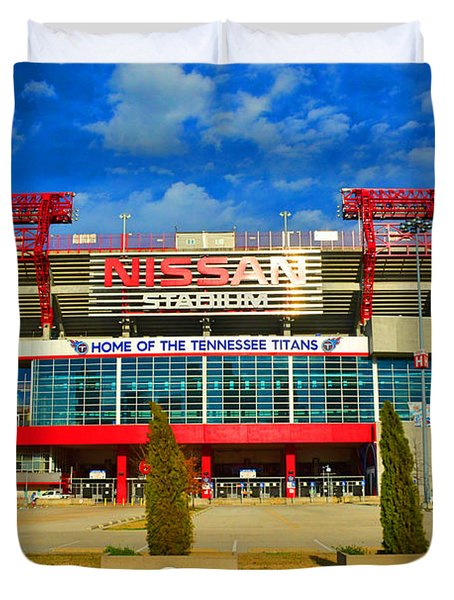 Nissan Stadium Home Of The Tennessee Titans Duvet Cover