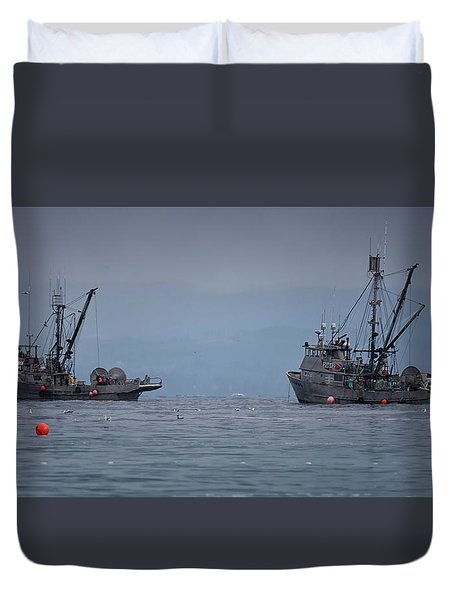Nita Dawn And Cape George Duvet Cover by Randy Hall