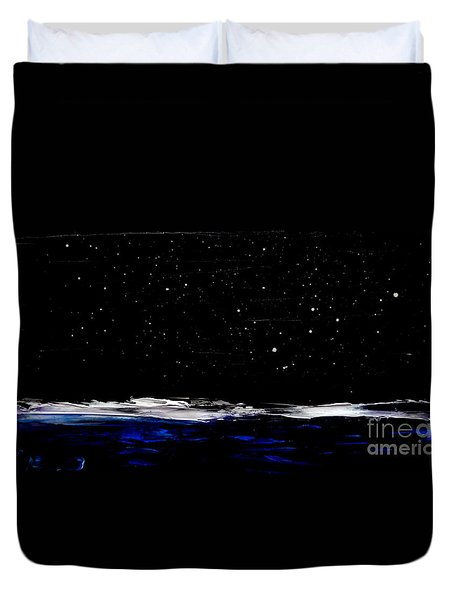 Nite Fall On Maui Duvet Cover by Fred Wilson