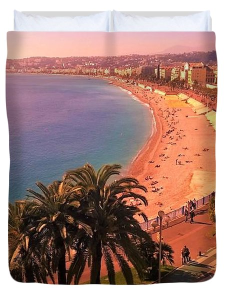 Nizza By The Sea Duvet Cover