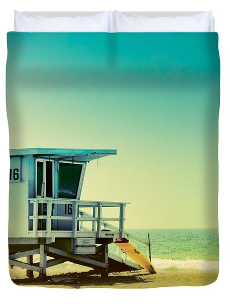 No 16 - Wish You Were Here Duvet Cover