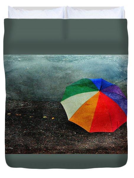 No Day For A Tan Duvet Cover by Randi Grace Nilsberg