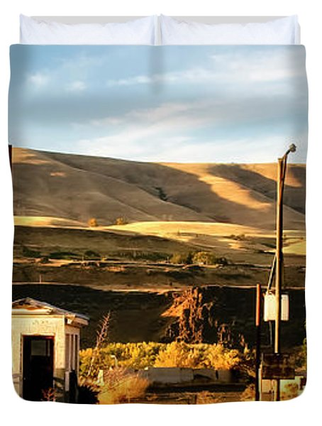Duvet Cover featuring the photograph No Gas... by Albert Seger