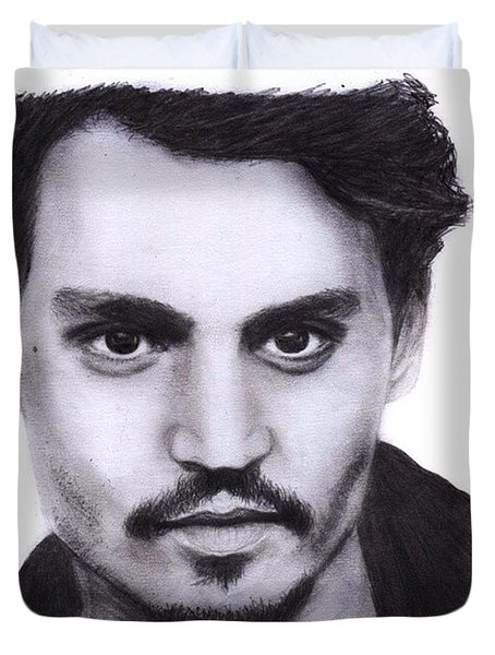 Johnny Depp Drawing By Sofia Furniel Duvet Cover