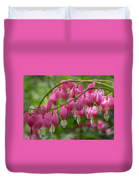 Duvet Cover featuring the photograph Bleeding Heart by Patti Deters