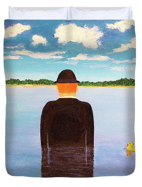 No Man Is An Island Duvet Cover