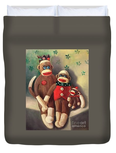 No Monkey Business Here 2 Duvet Cover