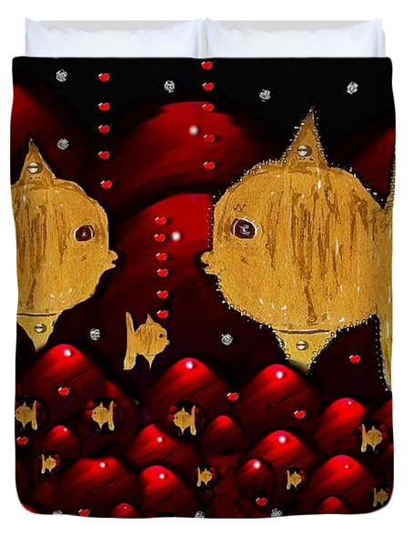 No More Cesium 137 Duvet Cover by Pepita Selles