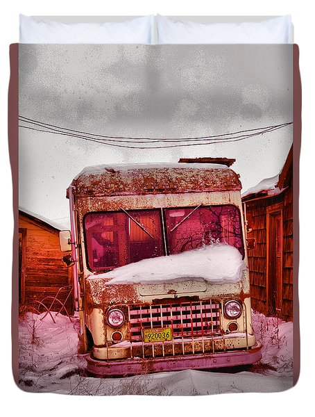 Duvet Cover featuring the photograph No More Deliveries by Jeff Swan
