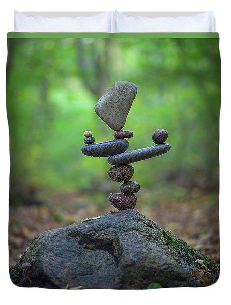 Zen Stack #5 Duvet Cover