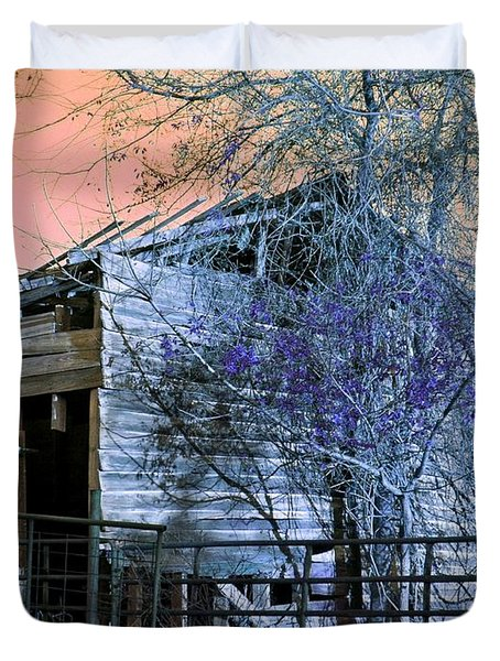 Duvet Cover featuring the photograph No Ordinary Barn by Betty Northcutt