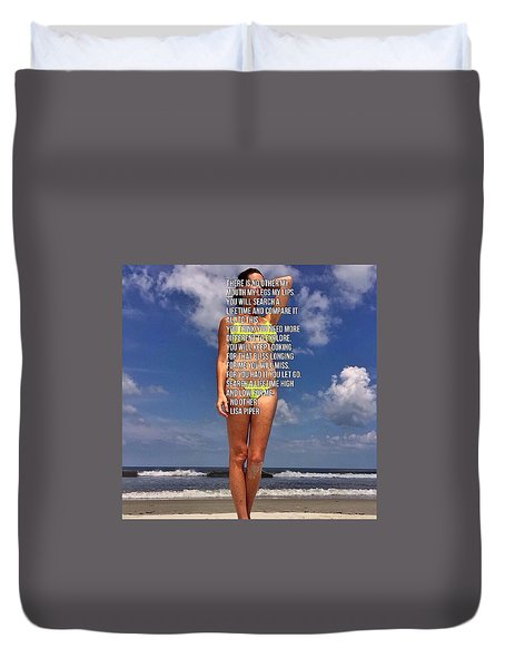 Duvet Cover featuring the photograph No Other by Lisa Piper