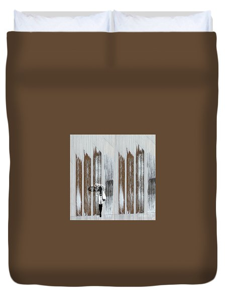 Duvet Cover featuring the photograph No Rain Forest by LemonArt Photography