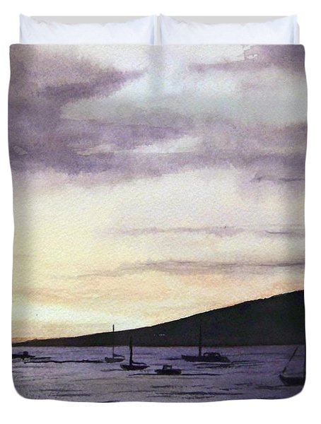 No Safer Harbor Lahaina Hawaii Duvet Cover