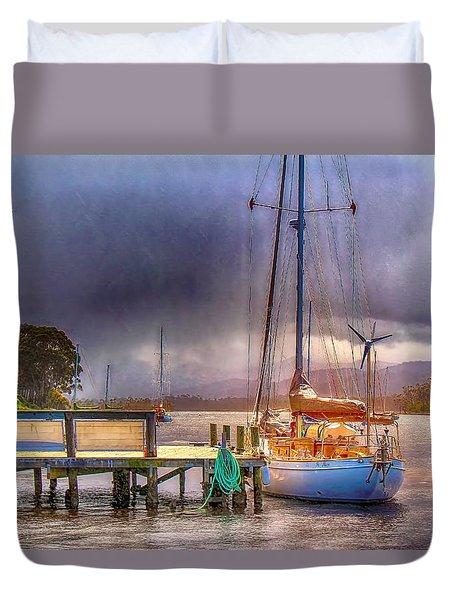 No Sailing Today Duvet Cover