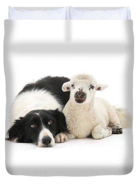 No Sheep Jokes, Please Duvet Cover