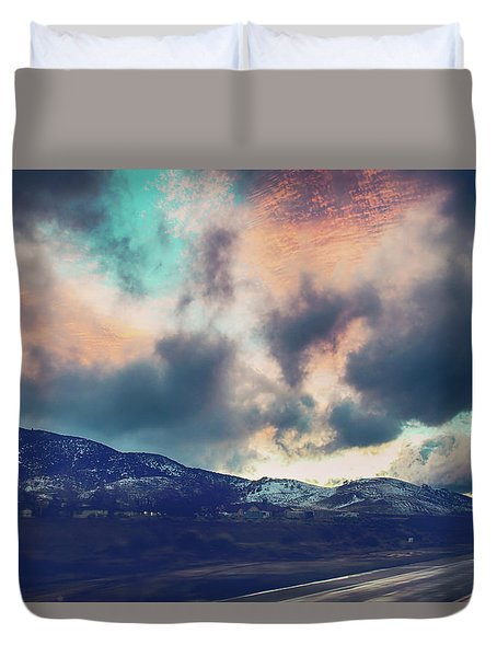 Duvet Cover featuring the photograph No Stopping Us Now by Laurie Search