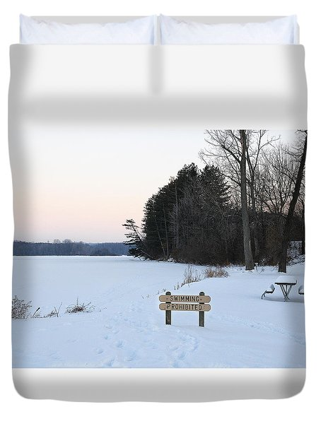 No Swimming Duvet Cover