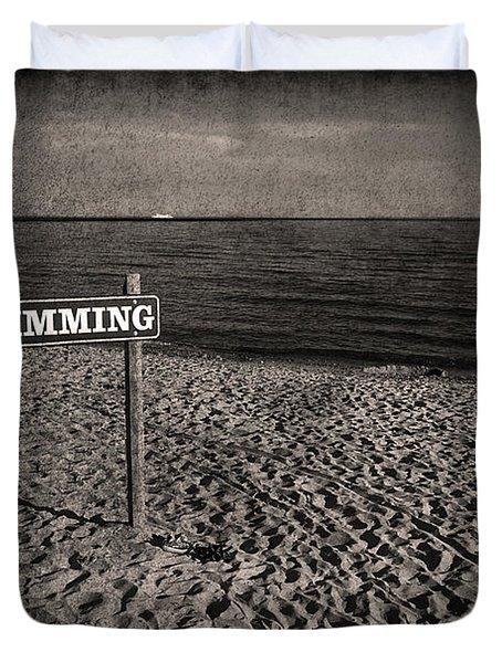 No Swimming Duvet Cover