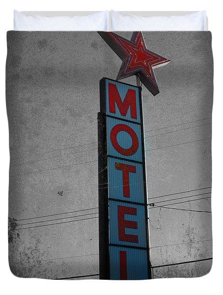 No Tell Motel Duvet Cover by Jerry Cordeiro
