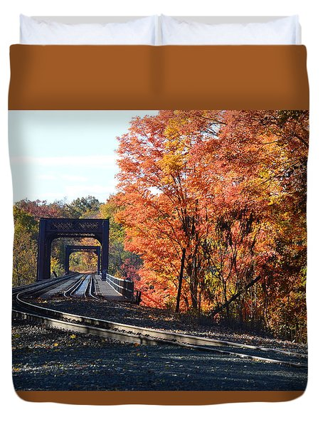 No Train Coming Duvet Cover