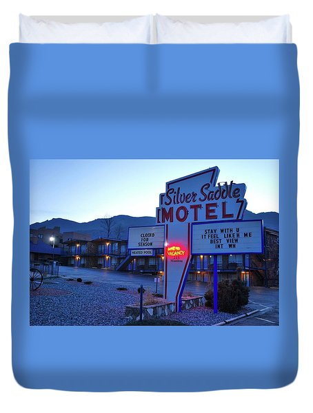No Vacancy  Duvet Cover
