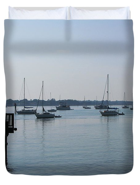 Duvet Cover featuring the photograph No Wind by Greg Patzer