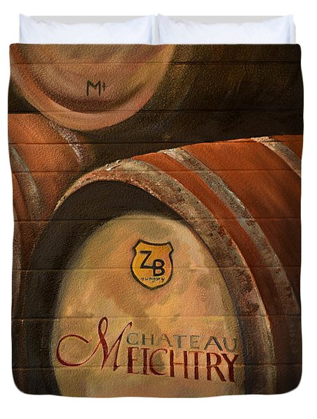 No Wine Before It's Time - Barrels-chateau Meichtry Duvet Cover