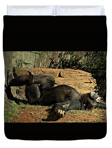 Duvet Cover featuring the photograph No Worries by Jessica Brawley